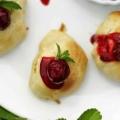 Pieczone racuchy drożdżowe z frużeliną wiśniową