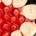Knedliczki z frużeliną truskawkową