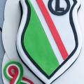 Tort Legia Warszawa - Tort z białą czekoladą i frużeliną truskawkową - Instrukcja Krok po kroku